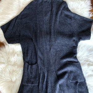 Barefoot Dreams Cozychic Lite Ribbed Blue Cardigan
